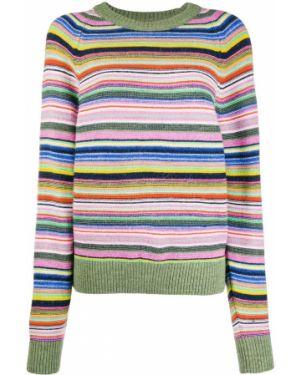 Акриловый свитер в рубчик круглый свободного кроя Stine Goya