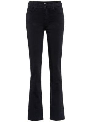Черные джинсы стрейч с воротником 7 For All Mankind