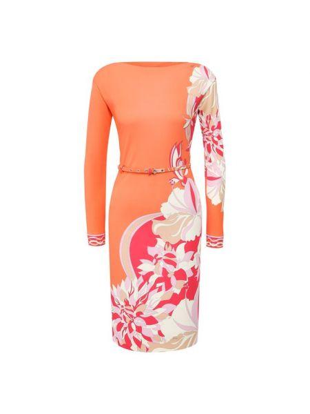 Платье шелковое из вискозы Emilio Pucci