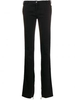 Хлопковые черные классические брюки на молнии Versace Pre-owned