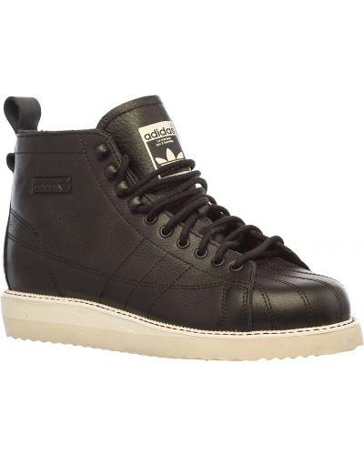 Кожаные ботинки черные кожаные Adidas