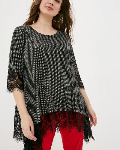 Черная кружевная блузка Sophia