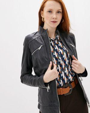Кожаная куртка - синяя La Reine Blanche