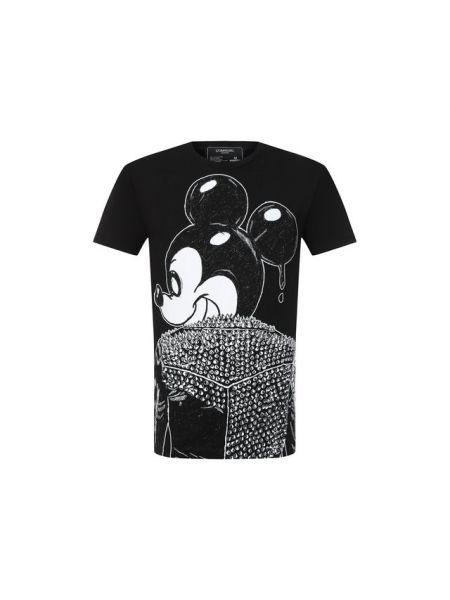 Микки маус хлопковая футболка с круглым вырезом Dom Rebel