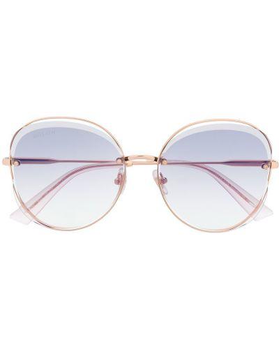 Прямые розовые солнцезащитные очки металлические Bolon