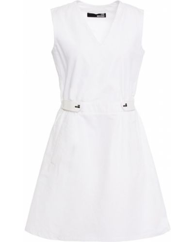 Хлопковое платье мини - белое Love Moschino