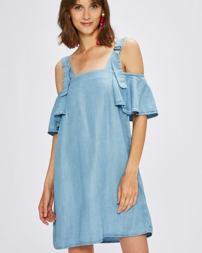 Платье мини с оборками свободного кроя Guess Jeans