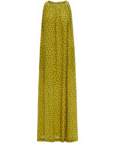 Шелковое платье макси - зеленое Bella Freud