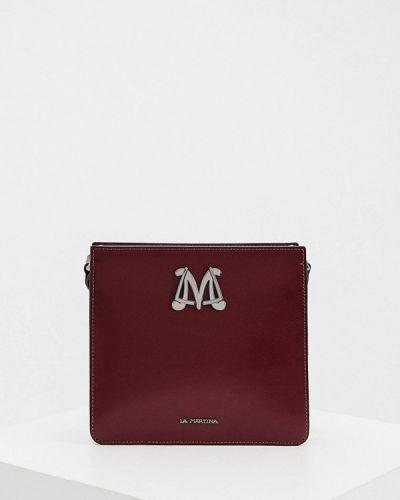 Красная сумка через плечо La Martina