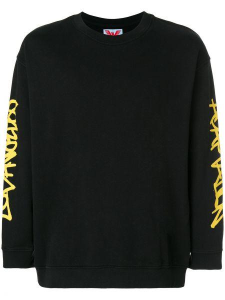 Czarna bluza bawełniana z printem Adaptation