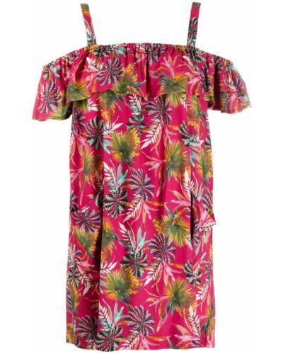 Розовое платье мини с открытыми плечами Cia Marítima
