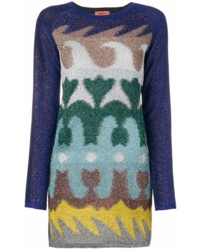 Платье цветное с принтом Missoni