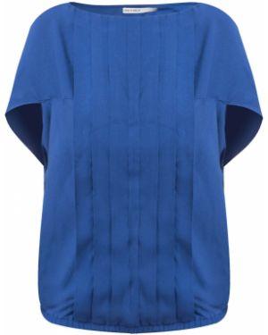 Блузка из вискозы синяя Finn Flare