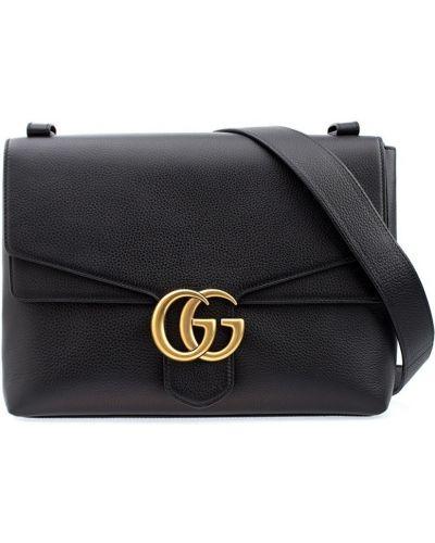 Кожаный сумка с пряжкой с логотипом Gucci