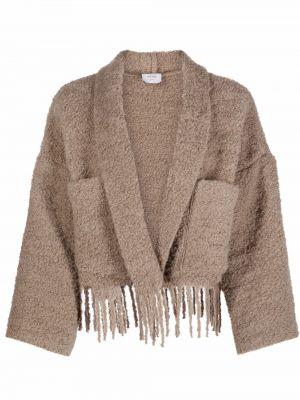 Коричневая куртка из полиэстера Alysi