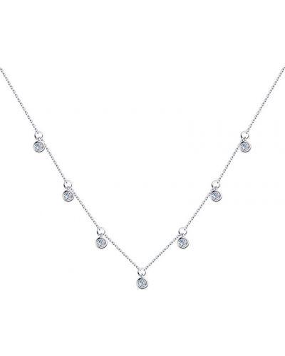 Серебряное ожерелье с фианитом Sokolov