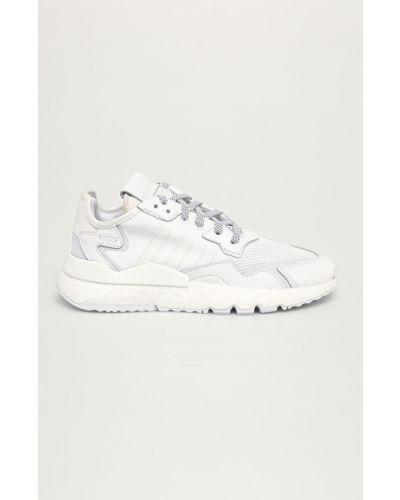 Białe joggery skorzane sznurowane Adidas Originals