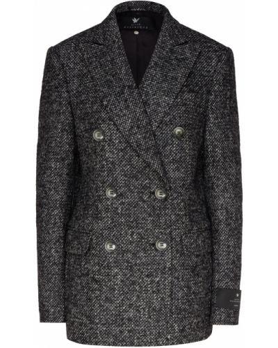 Серый пиджак твидовый двубортный Maison Bohemique