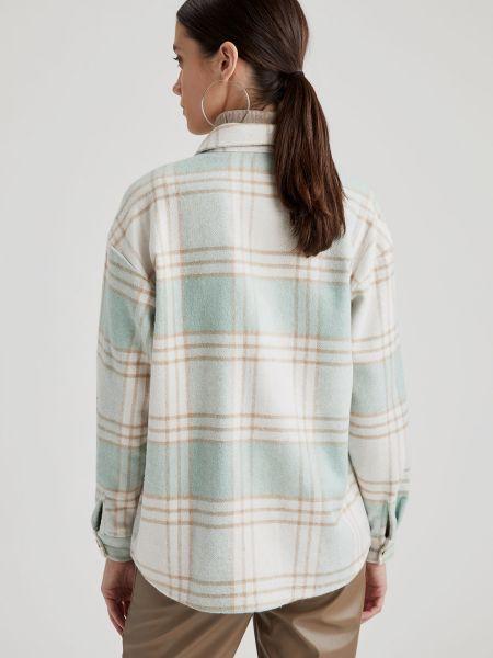 С рукавами рубашка в клетку с воротником-стойка Defacto