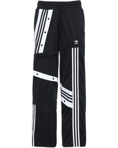 Спортивные брюки эластичные с завязками со вставками Adidas Originals