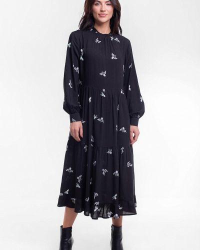 Прямое черное платье Bessa