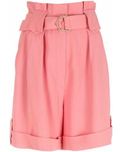 Розовые с завышенной талией шорты с карманами Nk