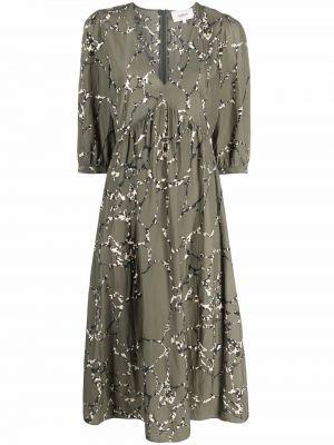 Платье макси длинное - зеленое Ba&sh