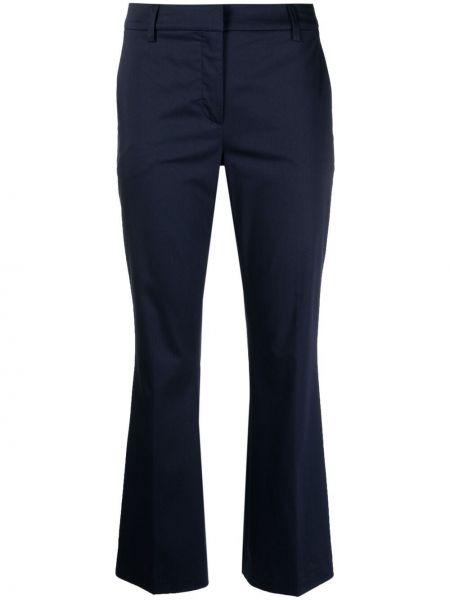 Хлопковые синие брюки узкого кроя Lautre Chose