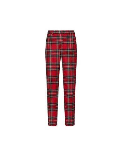Красные укороченные брюки Valentino Red