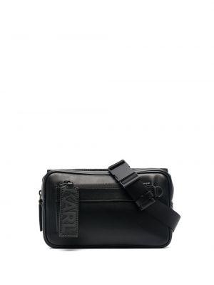 Кожаная черная поясная сумка на молнии Karl Lagerfeld