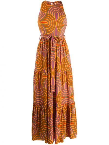 Желтое платье с американской проймой из вискозы La Doublej