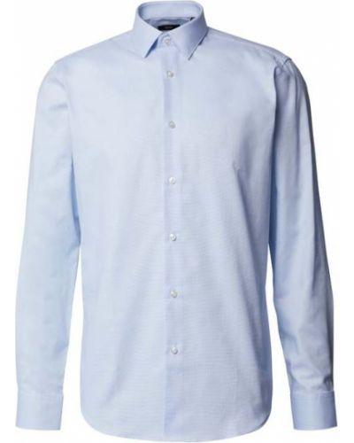 Niebieska koszula bawełniana Boss