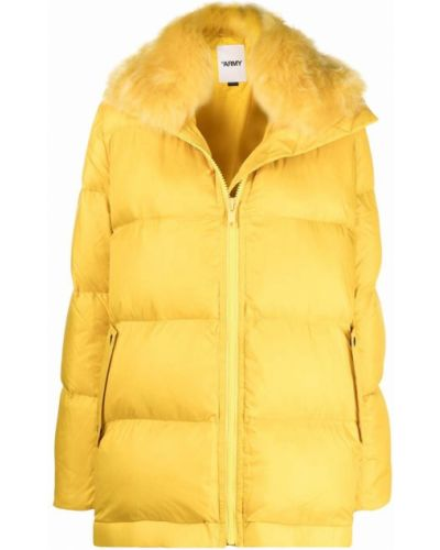 Желтое пальто из овчины Yves Salomon