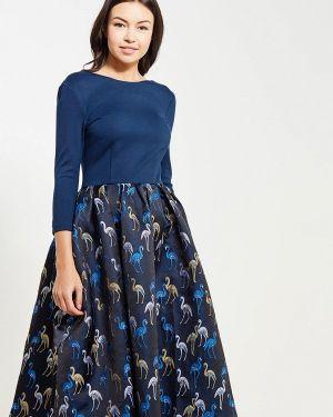 Платье осеннее синее Aelite