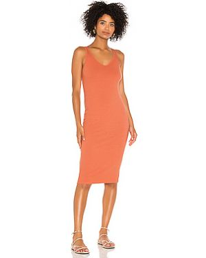 Платье миди в рубчик из вискозы Enza Costa