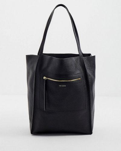 Кожаная сумка шоппер - черная Ted Baker London