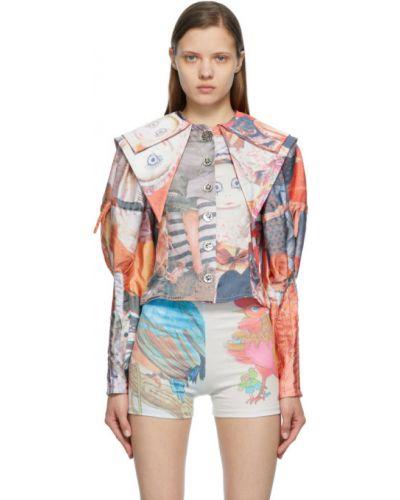 Сатиновая блузка с длинными рукавами с воротником Chopova Lowena