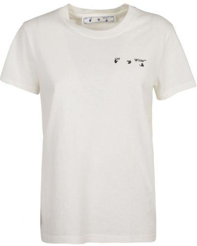 T-shirt z długimi rękawami - biała Off-white