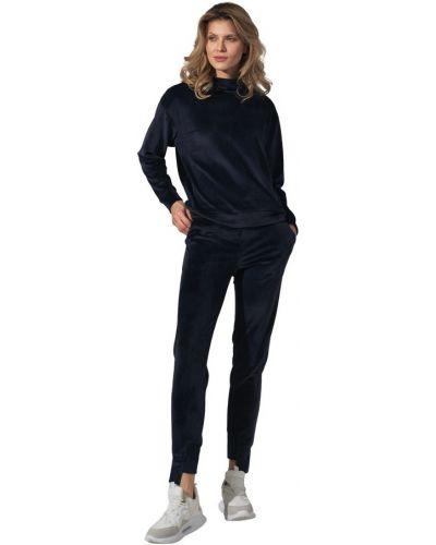 Czarne spodnie z wiązaniami Figl