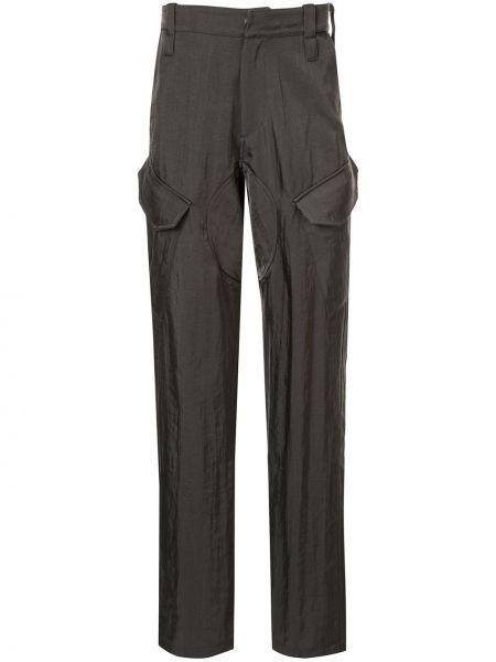 Czarne spodnie z paskiem z nylonu Affix