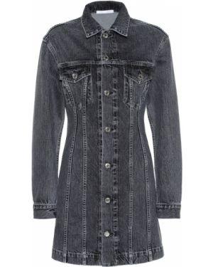 Платье мини джинсовое черное Helmut Lang