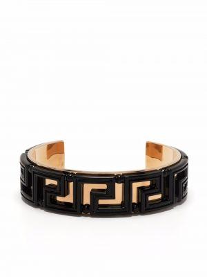 Браслет металлический - черный Versace