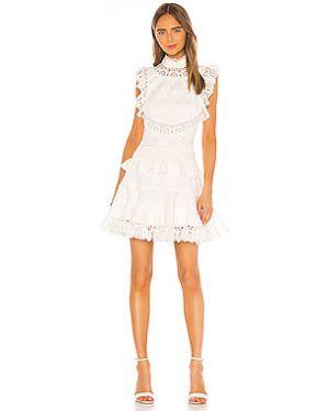 Платье мини со складками на молнии Zimmermann