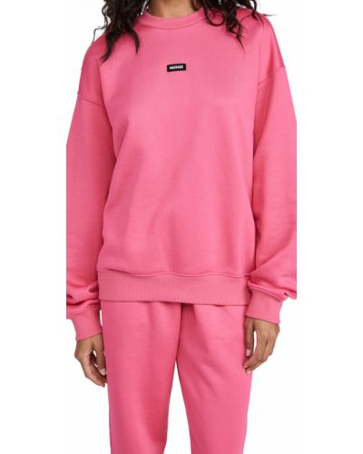 Ватный розовый хлопковый свитшот Mackage