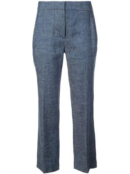 Niebieskie spodnie z paskiem z wiskozy Elie Tahari