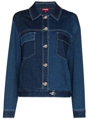 Хлопковая джинсовая куртка - синяя Staud