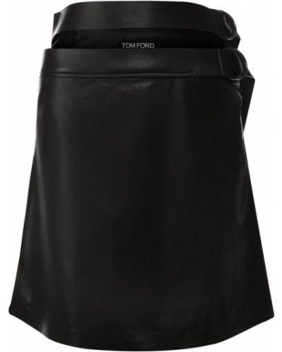 Юбка мини кожаная с поясом Tom Ford