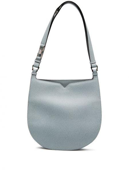 Niebieska torebka skórzana Valextra