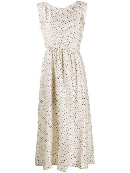 Платье миди на молнии расклешенное Lautre Chose