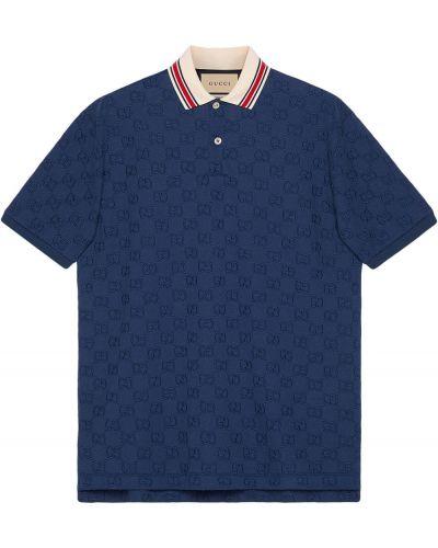 Koszula krótki rękaw - niebieska Gucci